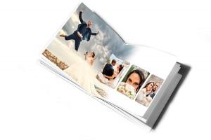 Livre photo mariage ouvert
