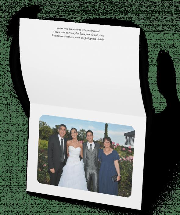 Remerciement photo mariage